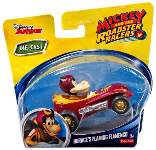 Fisher Price Disney Mickey & Roadster Racers Horace's Flaming Famenco Diecast Vehicle