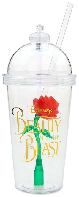 Disney Princess Beauty and the Beast Enchanted Rose Light-Up Dome Exclusive Tumbler with Straw