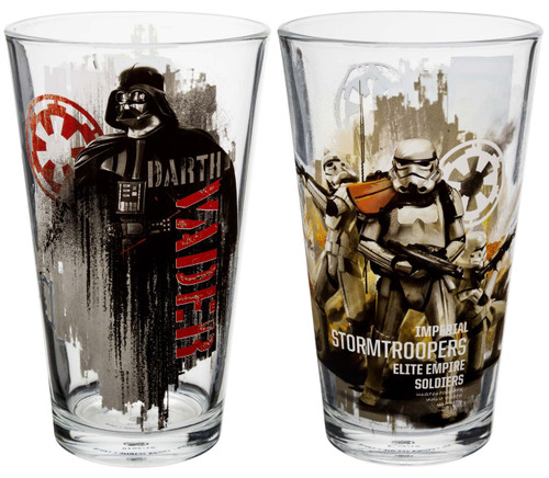 Star Wars Rogue One 2 Piece Pint Glass Set
