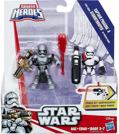 Star Wars Galactic Heroes Captain Phasma & 1st Order Stormtrooper Mini Figure 2-Pack