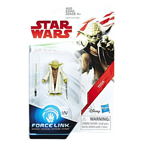 Star Wars Revenge of the Sith Force Link Teal Series Wave 2 SWU Yoda Action Figure