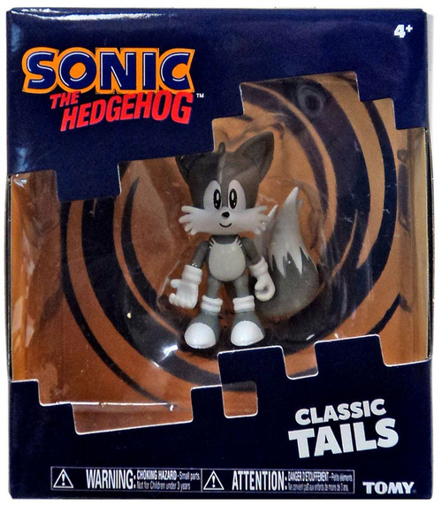 Sonic The Hedgehog Classic Tails Action Figure [Black & White Deco]