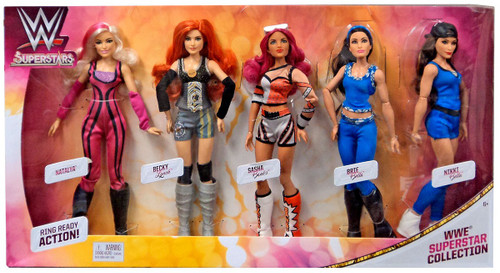WWE Wrestling Superstars WWE Superstar Collection 12-Inch Doll 5-Pack [Natalya, Becky Lynch, Sasha Lynch, Brie Bella & Nikki Bella]