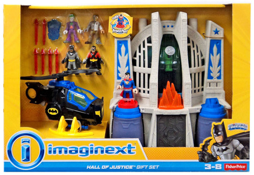 Fisher Price DC Super Friends Imaginext Hall of Justice Exclusive Gift Set Playset