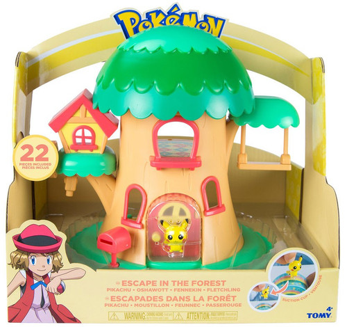 Pokemon Petite Pals Escape in the Forest Playset [Pikachu, Oshawott, Fennekin & Fletchling]