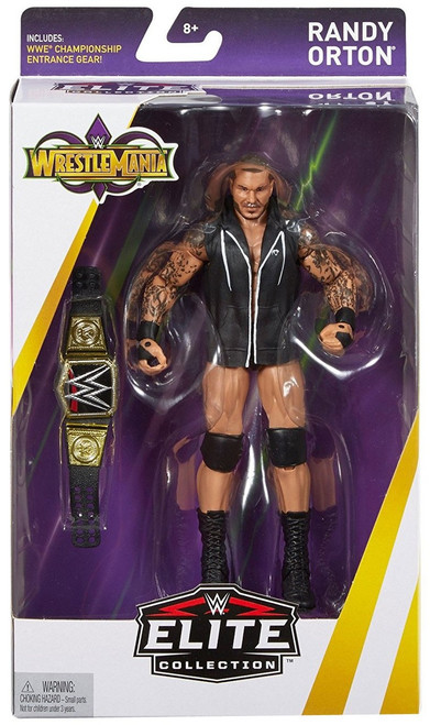 WWE Wrestling Elite Collection WrestleMania 34 Randy Orton Action Figure [WWE Championship Belt & Entrance Gear]
