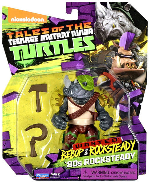 Teenage Mutant Ninja Turtles Tales of the TMNT Wanted Bebop & Rocksteady '80s Rocksteady Action Figure