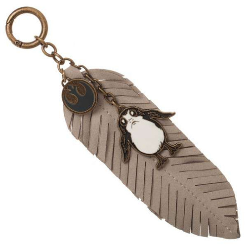 The Last Jedi Star Wars Episode 8 Porg Feather Keychain Apparel