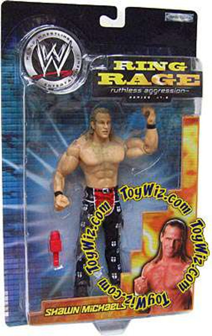 WWE Wrestling Ruthless Aggression 17.5 Ring Rage Shawn Michaels Action Figure [Damaged Package]