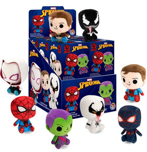 Funko Marvel Mystery Minis Plush Spider-Man Mystery Box [12 Packs]