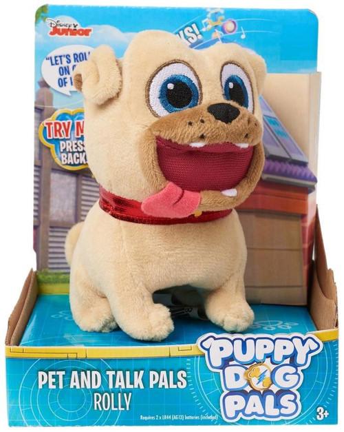Disney Junior Puppy Dog Pals Pet & Talk Pals Rolly 4-Inch Plush Figure with Sound