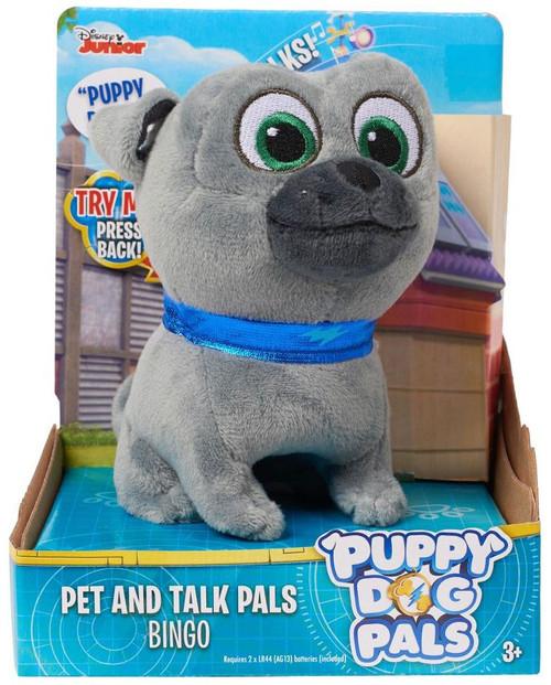 Disney Junior Puppy Dog Pals Pet & Talk Pals Bingo 4-Inch Plush Figure with Sound