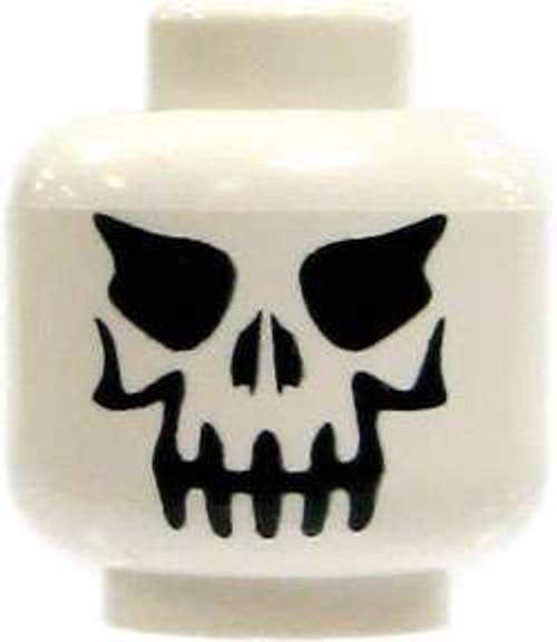 White Evil Skull Minifigure Head [Loose]