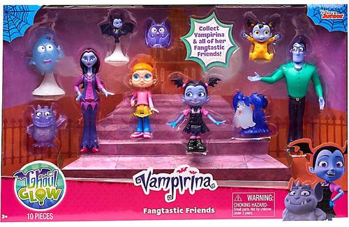 Disney Junior Vampirina Ghoul Glow Fangtastic Friends Figure 10-Pack