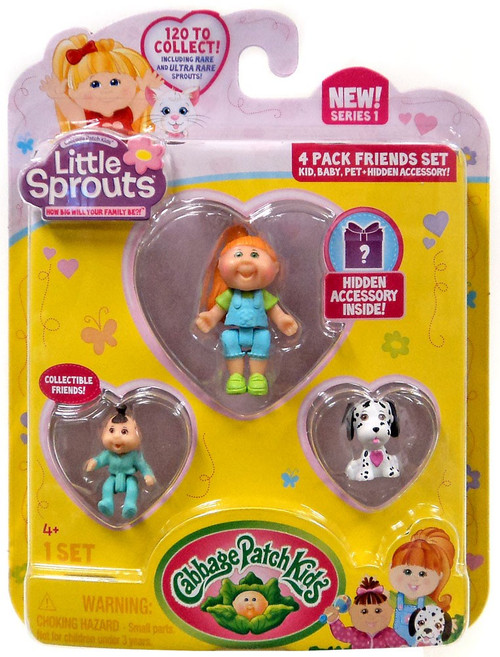 Cabbage Patch Kids Little Sprouts Sydney Rose Mini Figure 4-Pack