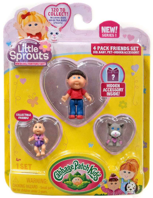 Cabbage Patch Kids Little Sprouts Michael Jay Mini Figure 4-Pack