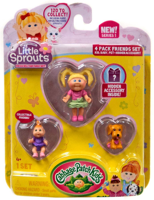 Cabbage Patch Kids Little Sprouts Adair Monroe Mini Figure 4-Pack