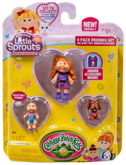 Cabbage Patch Kids Little Sprouts Peyton Cecllia Mini Figure 4-Pack