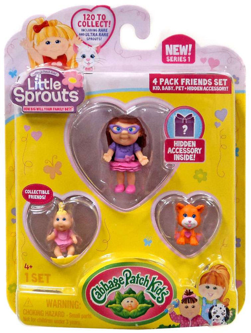 Cabbage Patch Kids Little Sprouts Colleen Eryn Mini Figure 4-Pack