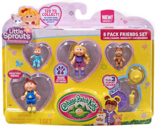 Cabbage Patch Kids Little Sprouts Zoe Skye Mini Figure 8-Pack