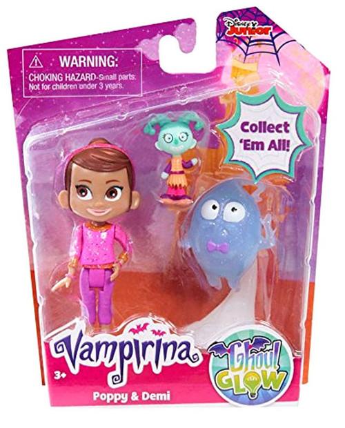 Disney Junior Vampirina Ghoul Glow Poppy & Demi Figure