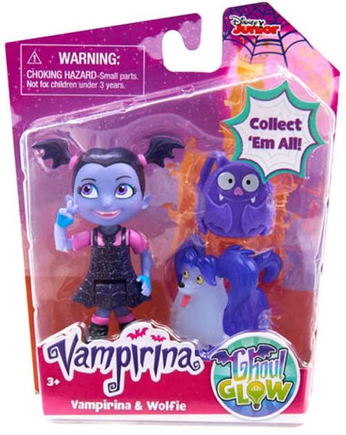 Disney Junior Ghoul Glow Vampirina & Wolfie Figure