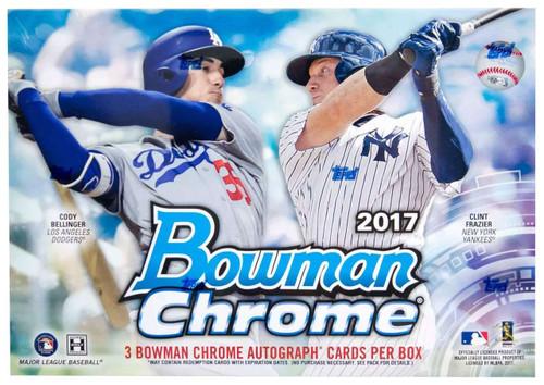 MLB Topps 2017 Bowman Chrome HTA Choice Trading Card HOBBY Box