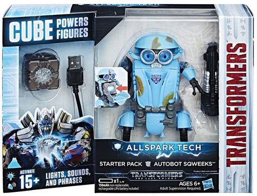 Transformers The Last Knight All Spark Tech Autobot Sqweeks Starter Pack