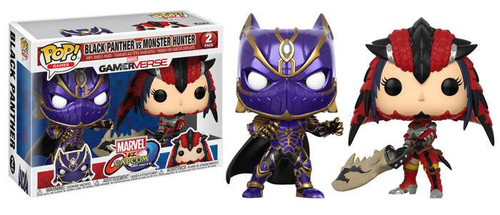 Funko Marvel Gamerverse Marvel vs Capcom: Infinite POP! Games Black Panther & Monster Hunter Vinyl Figure 2-Pack