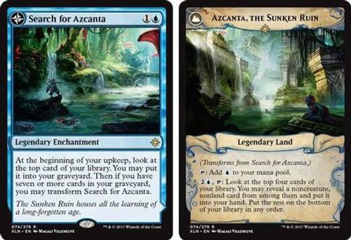 MtG Ixalan Rare Azcanta, the Sunken Ruin / Search for Azcanta #74