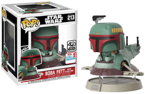 Funko POP! Star Wars Boba Fett with Slave One Exclusive Vinyl Bobble Head #213