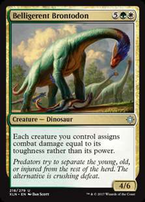 MtG Ixalan Uncommon Belligerent Brontodon #218