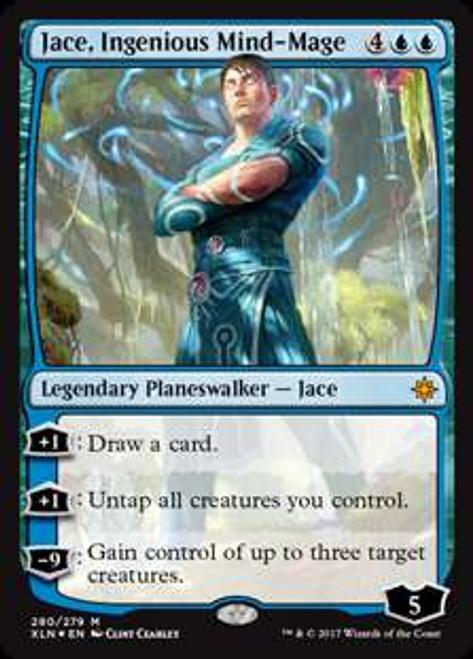 MtG Ixalan Mythic Rare Jace, Ingenious Mind-Mage #280