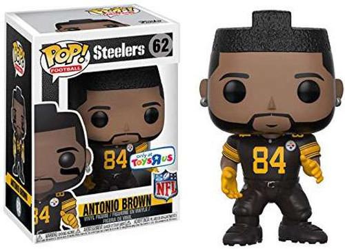 Funko NFL Pittsburgh Steelers POP! Sports Football Antonio Brown Exclusive Vinyl Figure #62 [All Black Uniform]