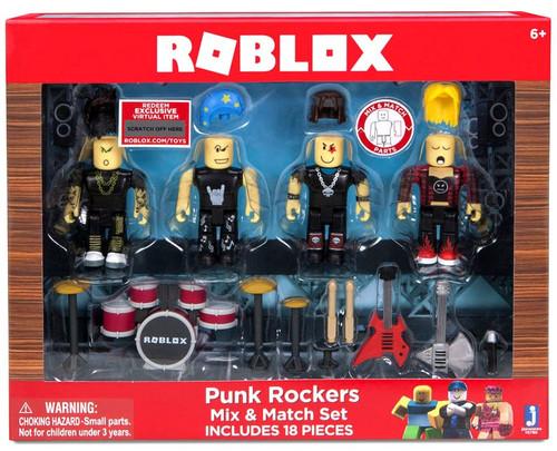 Roblox Mix & Match Punk Rockers 3-Inch Figure 4-Pack Set