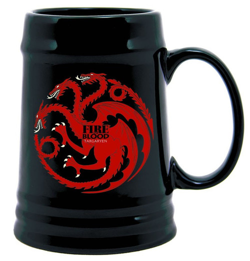 Game of Thrones Targaryen Sigil Ceramic Stein