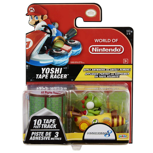 World of Nintendo Mario Kart 8 Tape Racer Yoshi Figure