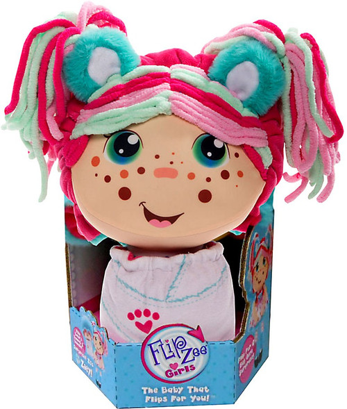 FlipZee! Girls Zoey Snuggly Bear Plush Doll [Caucasian]