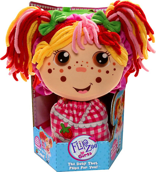 FlipZee! Girls Zana Strawberry Plush Doll