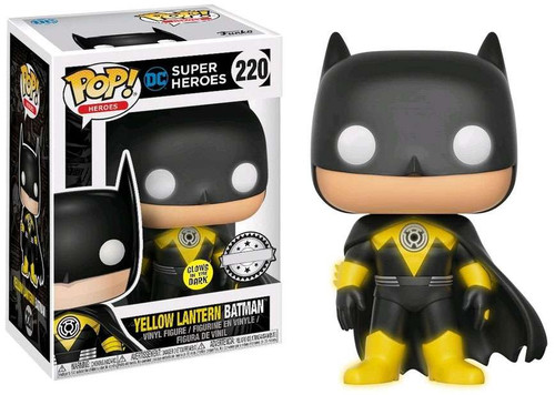 Funko POP! Heroes Yellow Lantern Batman Exclusive Vinyl Figure #220 [Glow-in-the-Dark]