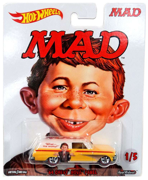 Hot Wheels MAD '64 Chevy Nova Panel Die-Cast Car #1/5 [Alfred E. Neuman]