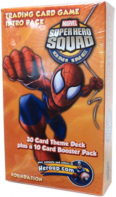 Marvel Trading Card Game Superhero Squad Online Spider-Man Intro Pack
