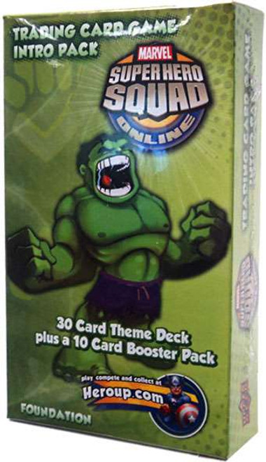 Marvel Trading Card Game Superhero Squad Online Hulk Intro Pack