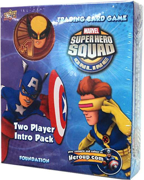 Marvel Trading Card Game Superhero Squad Online Captain America & Cyclops 2-Player Intro Pack