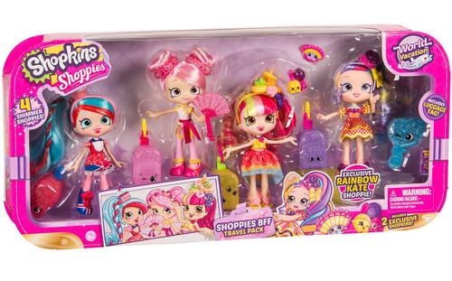 Shopkins Shoppies Season 8 World Vacation BFF Travel Pack Exclusive Doll 4-Pack [Rainbow Kate, Jessicake, Bubbleisha & Donatina]