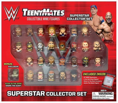 WWE Wrestling TeenyMates Superstar Collector Set