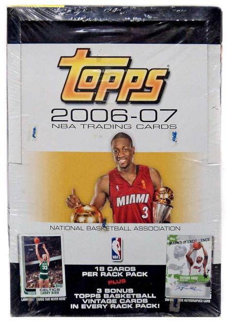 Topps NBA 2006-07 2006-07 Rack Pack Trading Card Box [24 Rack Packs]