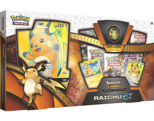 Pokemon Trading Card Game Shining Legends Special Collections Raichu-GX Box [5 Booster Packs, 2 Promo Cards, Oversize Card & Coin]