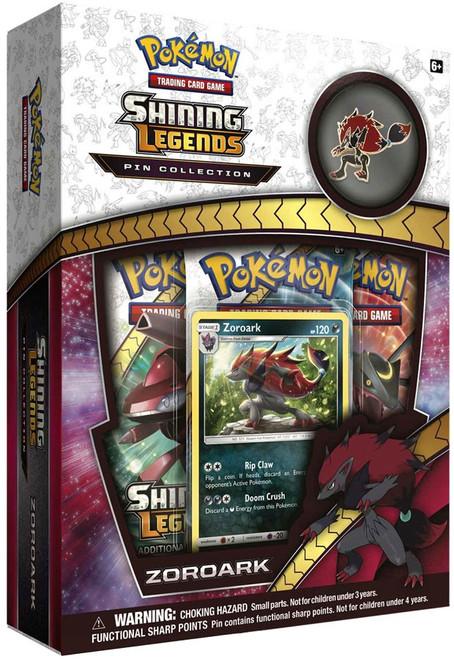 Pokemon Trading Card Game Shining Legends Zoroark Pin Box [3 Booster Packs, Promo Card & Pin]