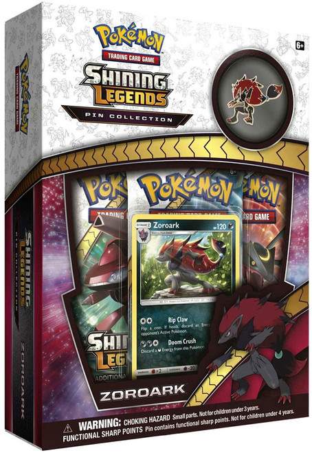 Pokemon Trading Card Game Shining Legends Zoroark Pin Box [3 Booster Packs, Promo Card & Pin!]